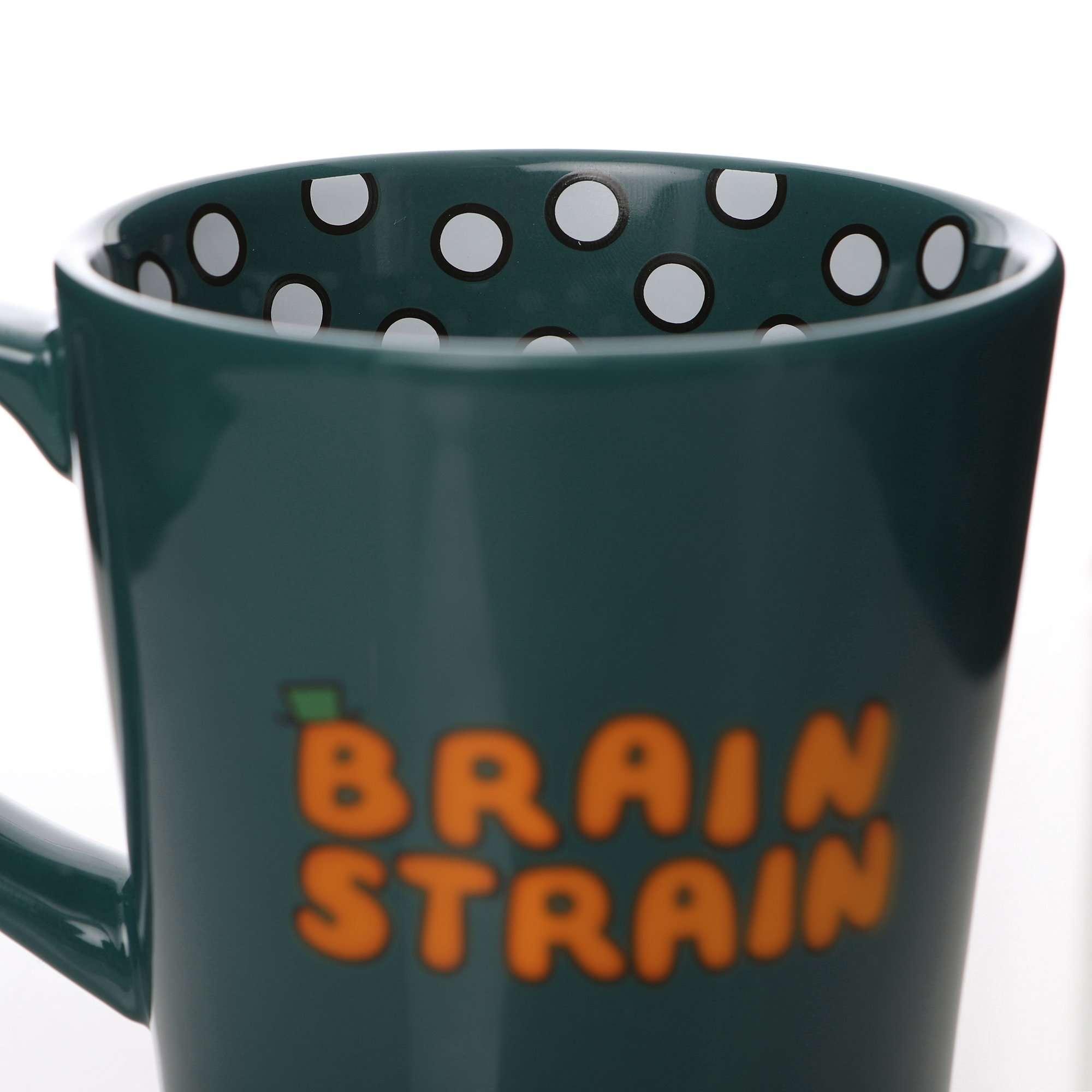 Mr Men MR CLEVER MUG Green BRAIN STRAIN Ceramic
